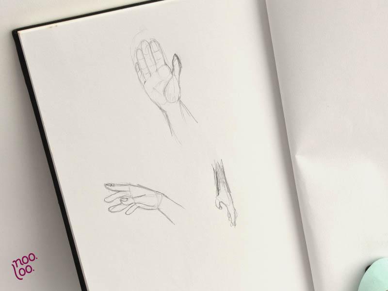 איך לצייר ידיים - אתגר
