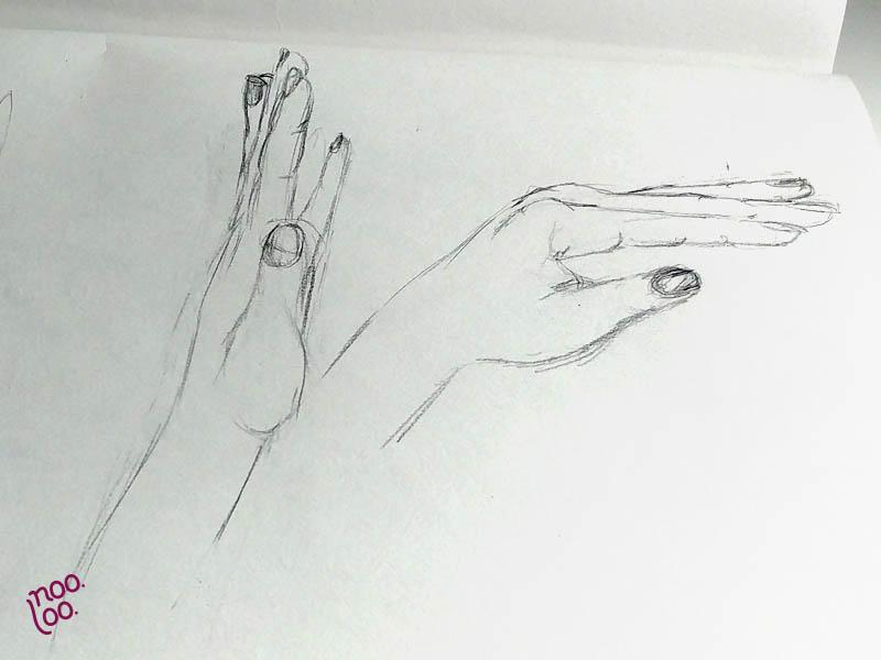 איך לצייר ידיים - ניסון שני