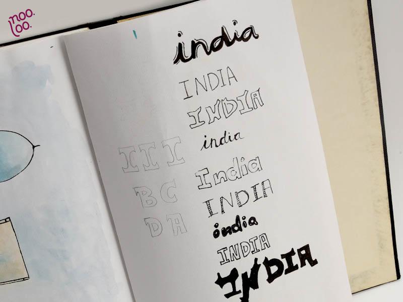 ניסיונות טיפוגרפים למילה India
