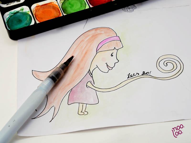 ליצור - איור בצבעי מים